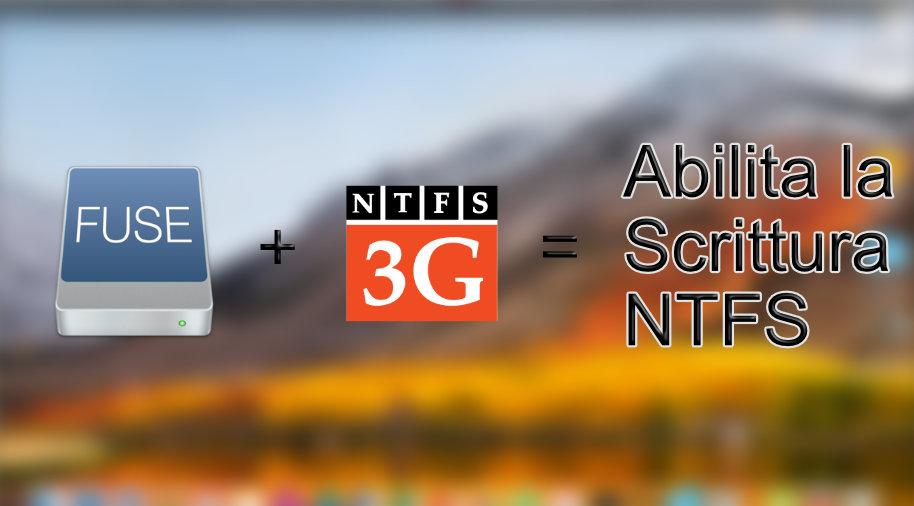 Abilitare la scrittura NTFS in macOS